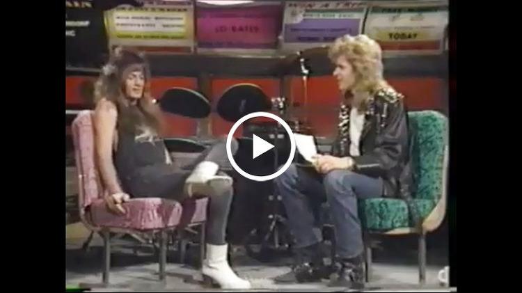 """Stand in Line"" Video Interview - MTV Headbangers Ball (December 10, 1988)"
