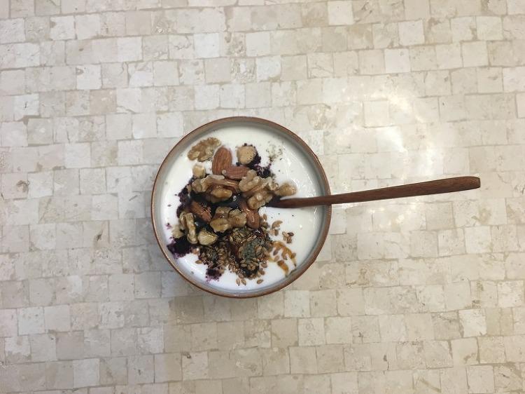 아침에 먹는 수제요플레, 고마운 음식 건강한 맛