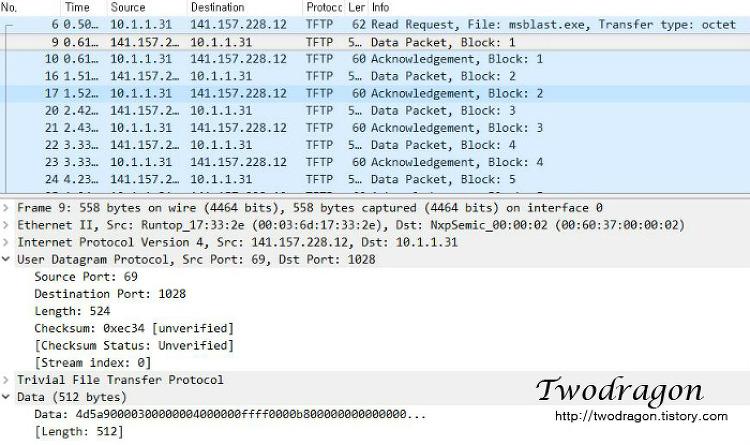 quiz01,quiz02 네트워크 패킷분석