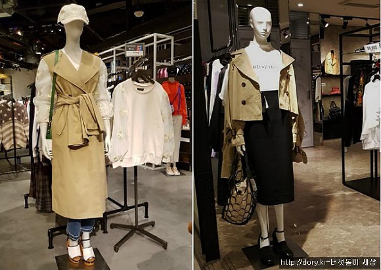 트렌치코트로 올봄 스타일을 제안한 일본매장