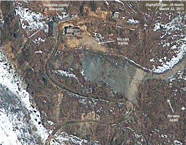 북한 핵실험장에 새갱도 공사 포착 - 38노스 오늘 위성사진 공개
