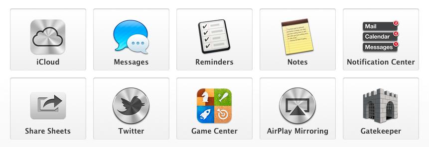 OS X 마운틴 라이언의 주요 기능