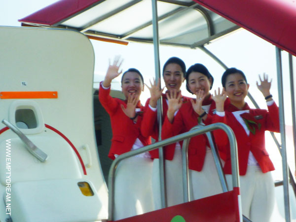 티웨이항공 미소가 아름다운 스튜어디스