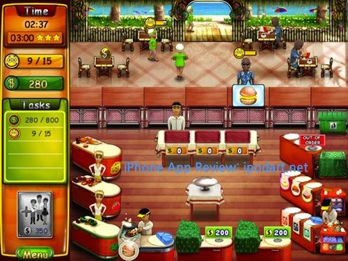아이패드 게임 타임매니지먼트 Burger Bustle HD