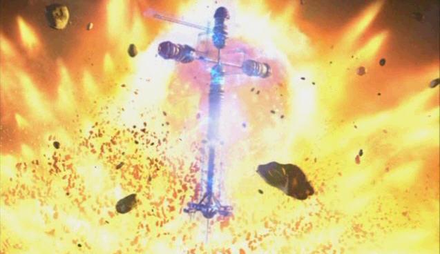 닥터후 시즌1 2화 지구 폭발 직전 시트템             복구로 보호막 가동