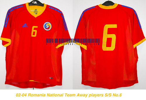 02-04 Romania National Team Away players S/S No.6