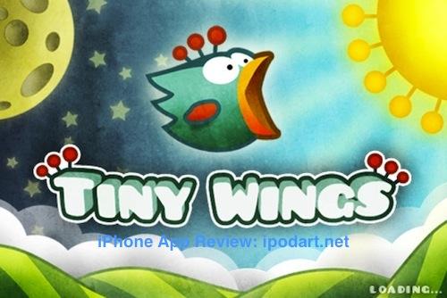 아이폰 점프 플라잉 게임 Tiny Wings