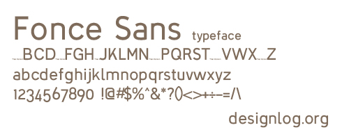 디자인 폰트 - Fonce Sans Regular