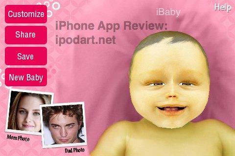 아이폰 미래의 아기얼굴 BabyBuilder