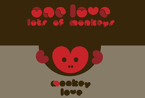 무료폰트, Monkey Love