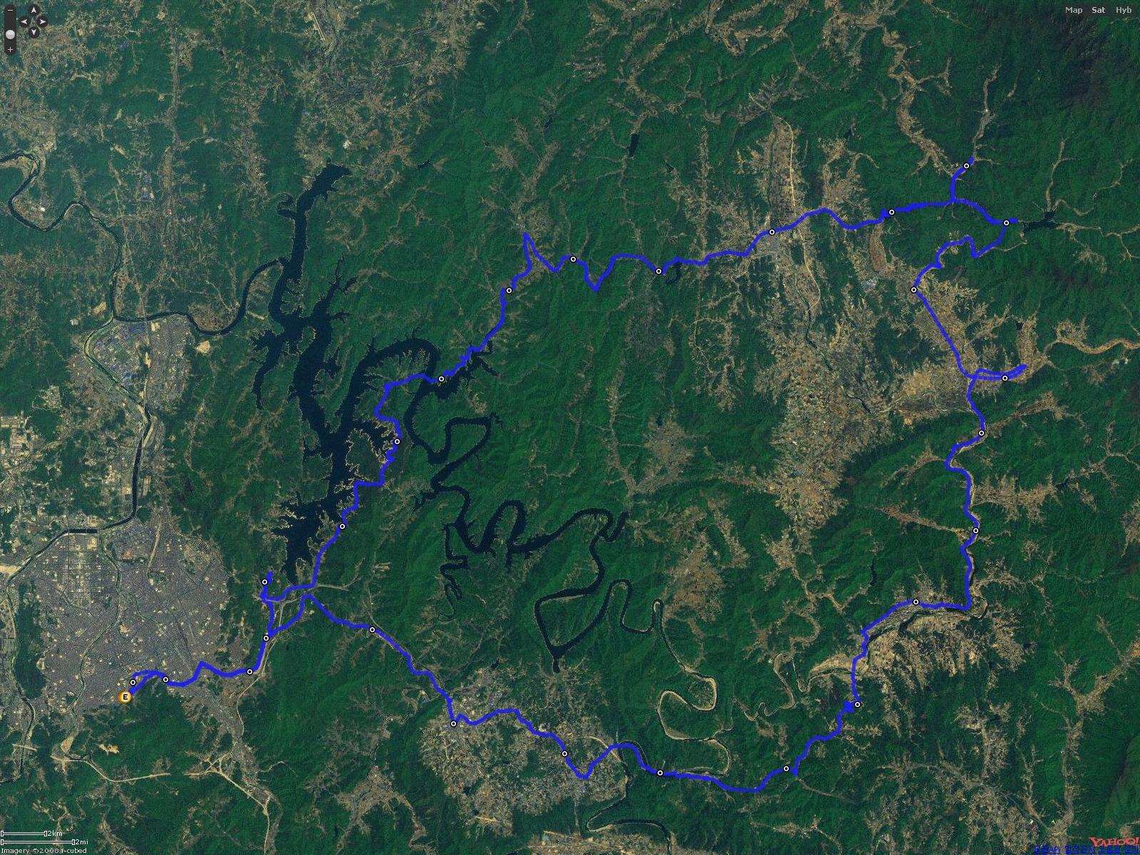 네이버 위성/항공 지도 모드
