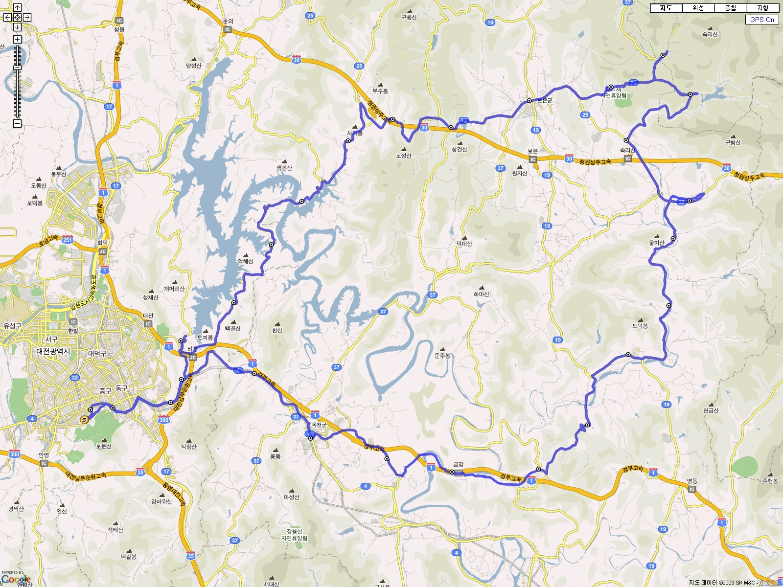 구글 지도 모드
