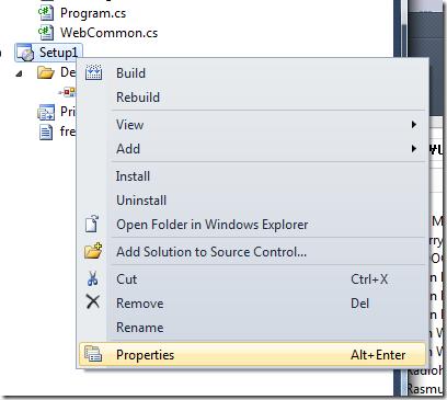 deploymentproejctproperty