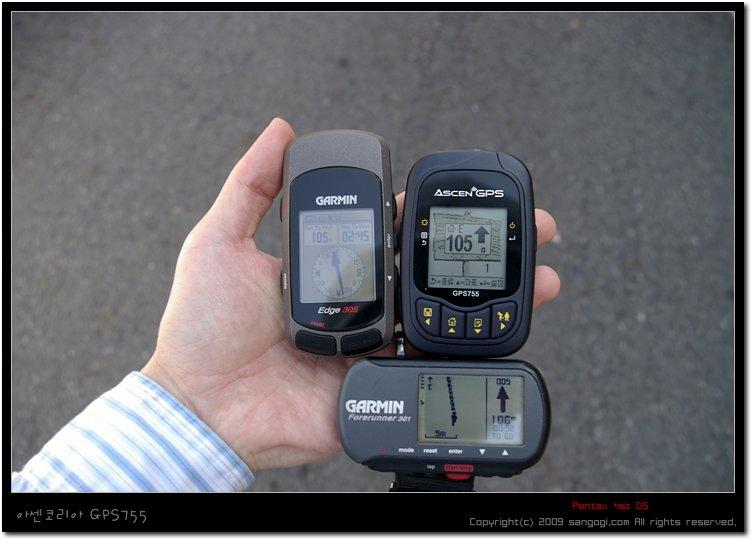 GPS755:105m, Edge305:105m, FR301:106m