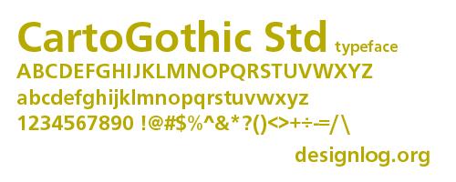 디자인 폰트 - CartoGothic STD