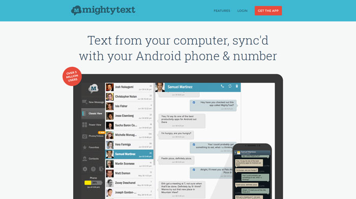 mightytext.net