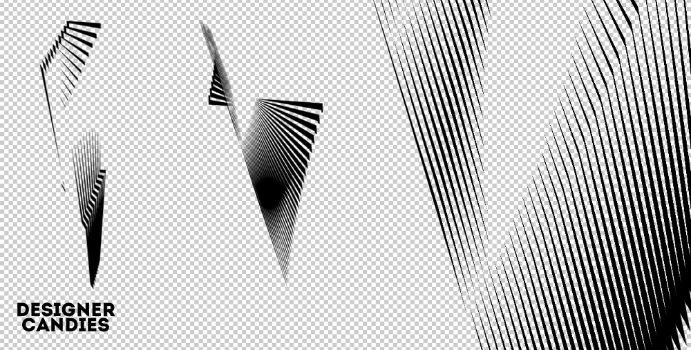 12 가지 무료 포토샵 방사형 선 브러쉬 - 12 Free Photoshop Abstract Techno Radiate Brushes