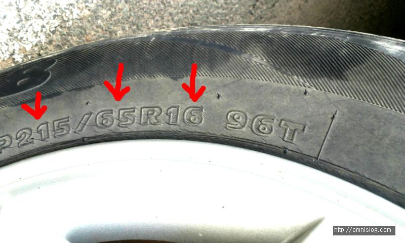 타이어 규격 보는법