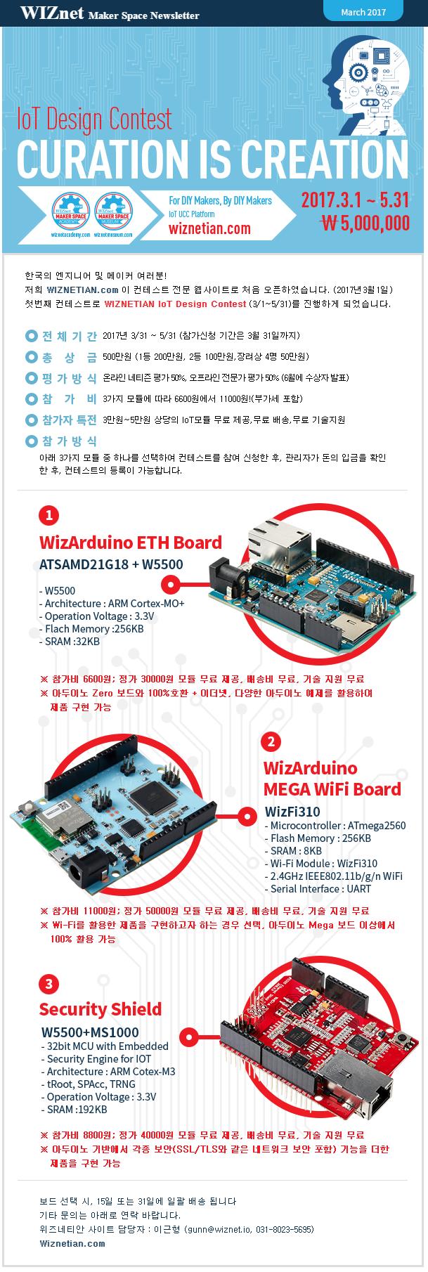 WIZnet IoT Design Contest 위즈네트 IoT 공모전