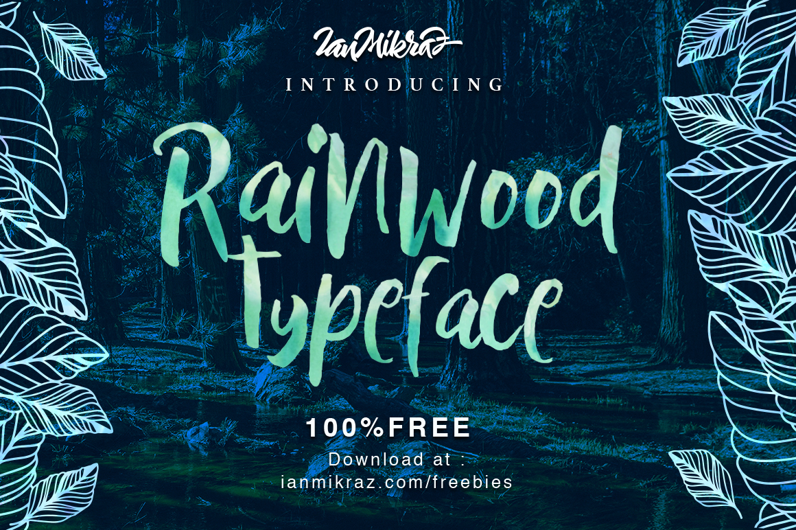 Rainwood – Free Brush Font