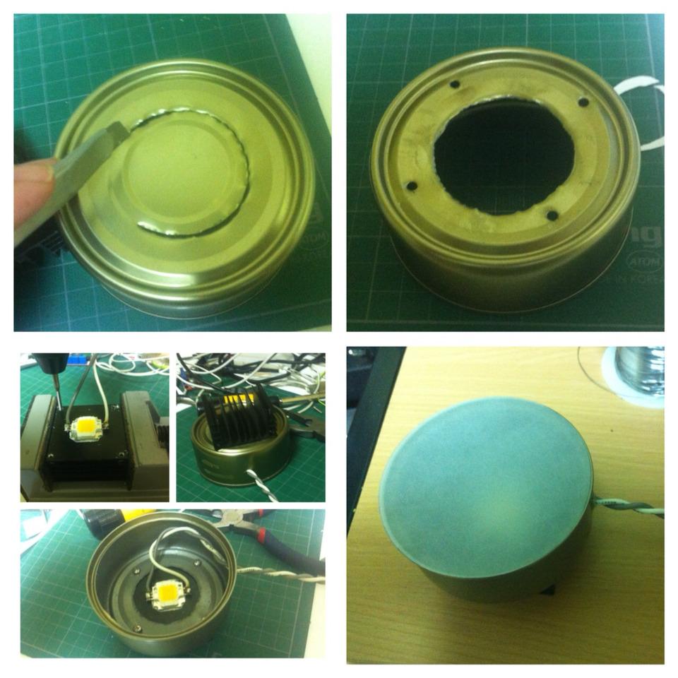 10W 참치캔 DIY LED 전등.