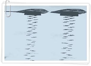 B-2 스피릿(B-2 Spirit)폭탄 투하 연상그림