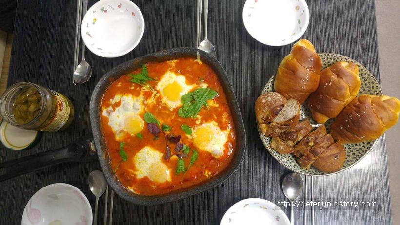 브런치 이스라엘 음식