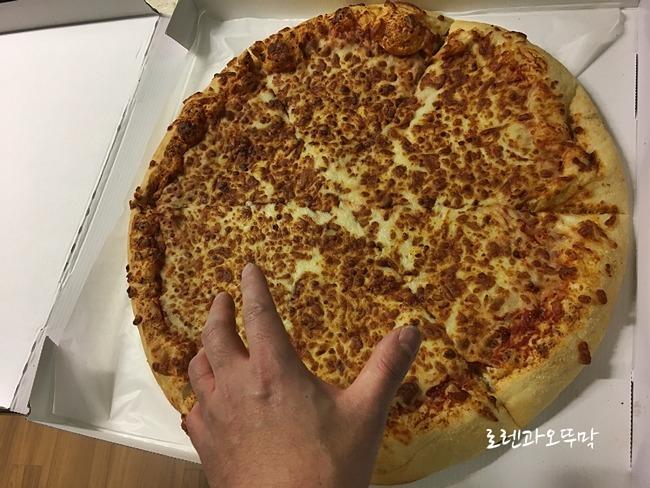 코스트코(costco)피자 사이즈