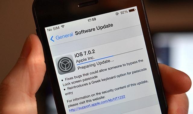 iOS 7.0.2는 아이튠즈 또는 OTA 업데이트를 통해 지금 ...