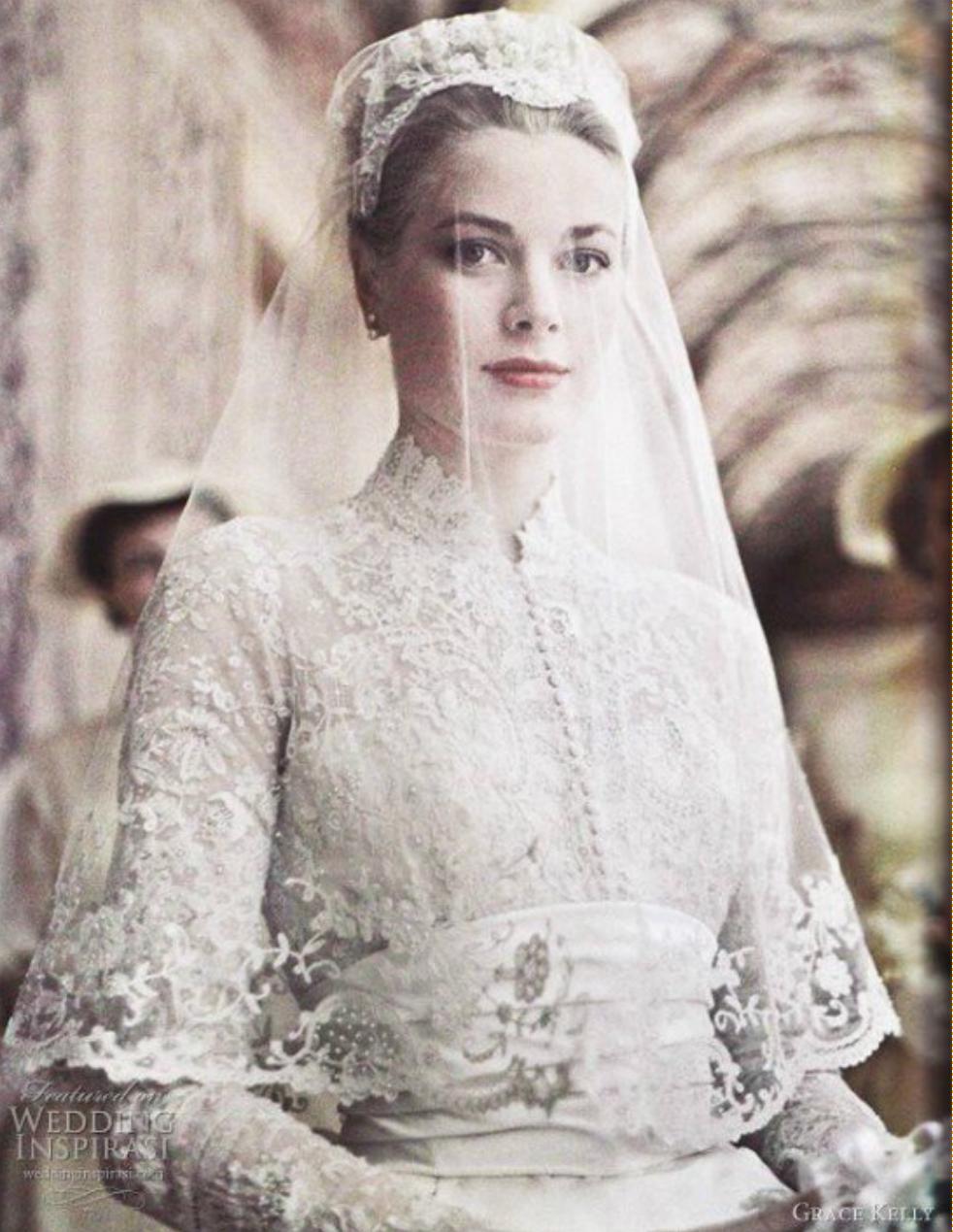 그레이스 켈리 웨딩드레스, 왕실 웨딩드레스, 로얄 웨딩,
