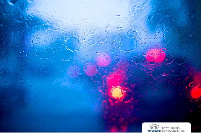 비 오는 날 접촉사고 발생