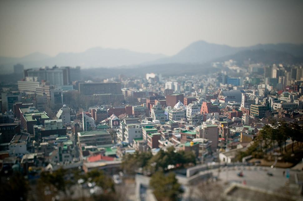 ts렌즈로 촬영되어 미니어쳐처럼 보이는 서울의 장난감 집들^^