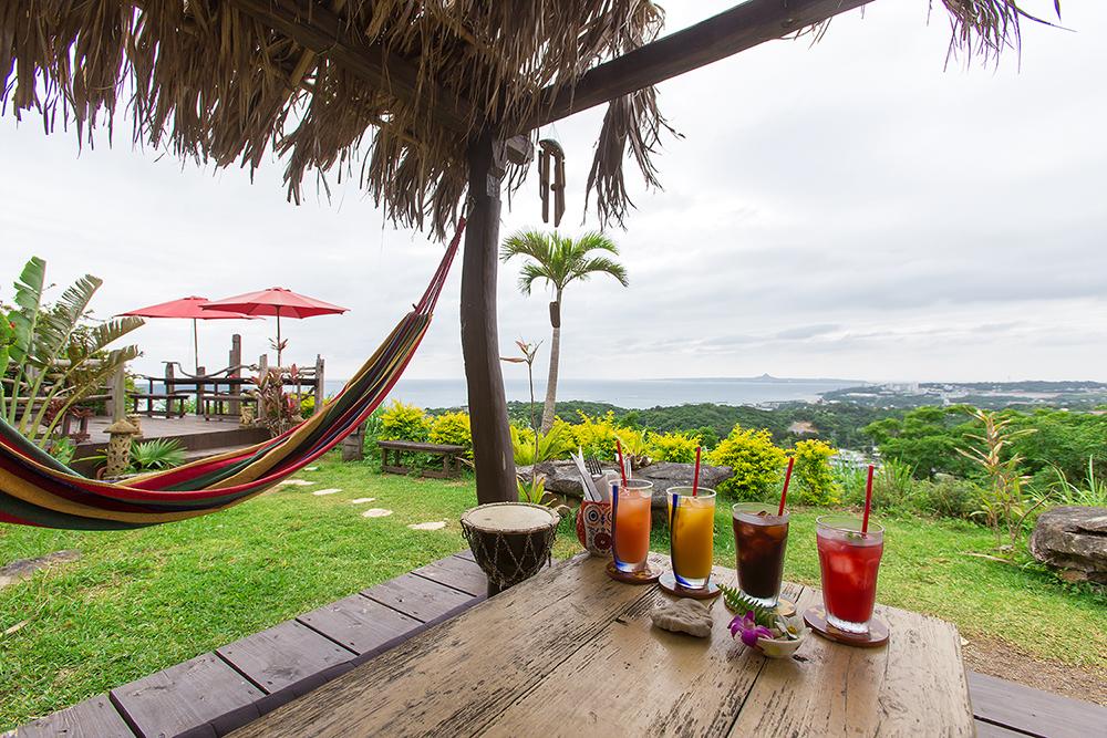 오키나와 여행 오키나와 북부의 전망 좋은 카페, 아열대 찻집 亜熱帯茶屋
