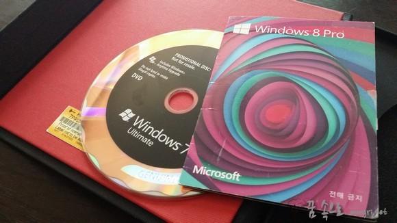 윈도우7 정품시디와 윈도우8 프로 정품 라이센스