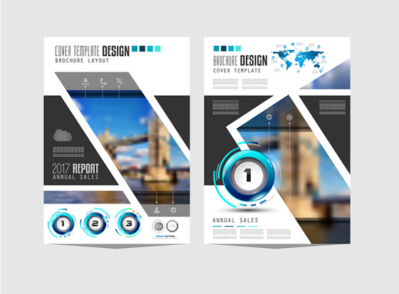 Business flyer brochure cover template vector 05