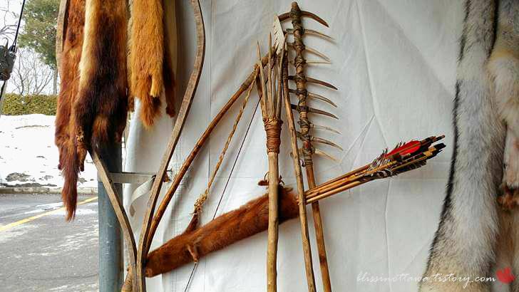 캐나다 토착민의 사냥 도구입니다