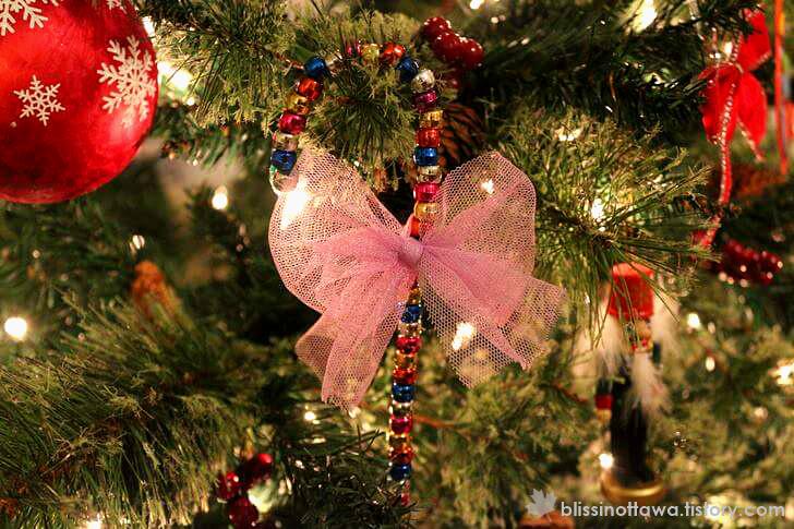 유아 미술놀이 크리스마스 캔디 케인 입니다