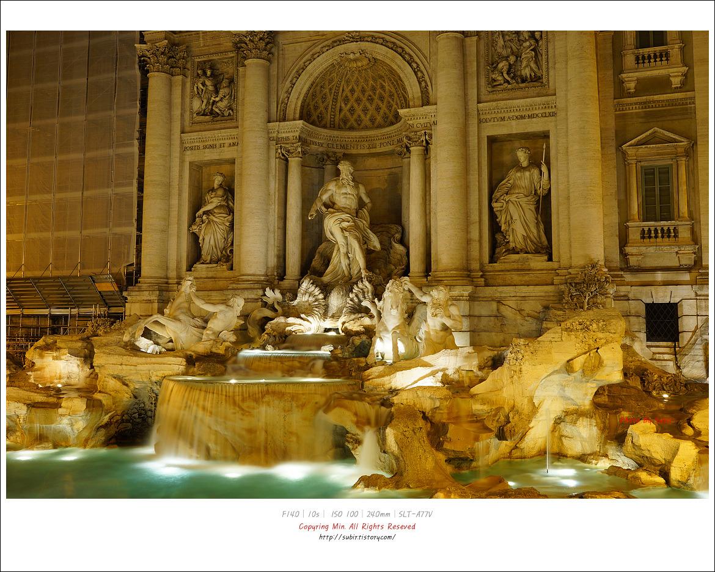 과거로 여행을 떠나는 로마 그곳의 야경