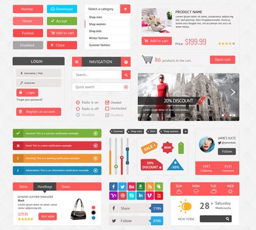 psd ui web design curating