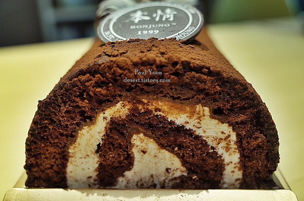 달다구리한 청주 본정 초코 몽블랑 (초코 롤케이크, 청주 본정 케이크, Bonjung cake, Roll cake, Choco MontBlanc)