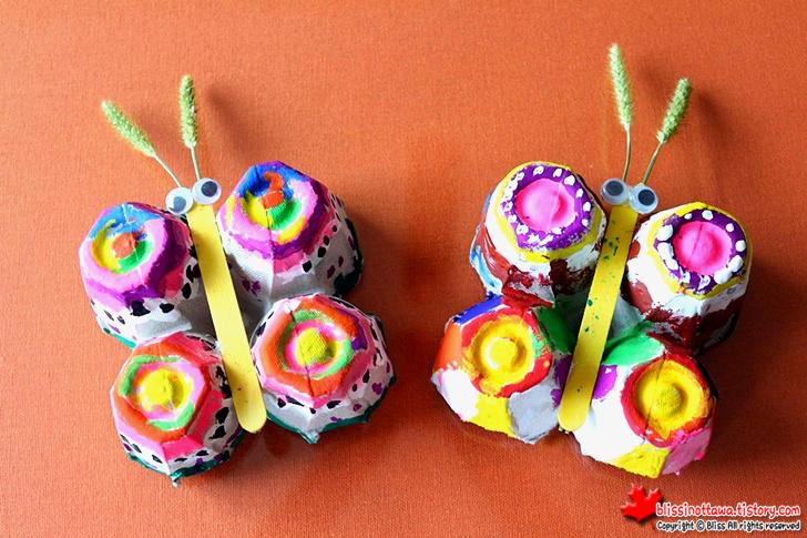 엄마표 미술놀이 달걀판 나비 만들기