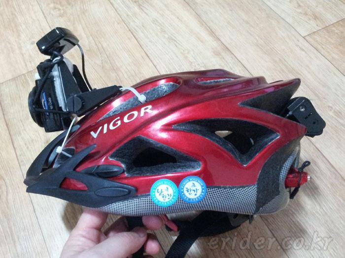 자전거 헬멧에 블랙박스 장착 최종 버젼