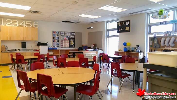 캐나다 초등학교 교실