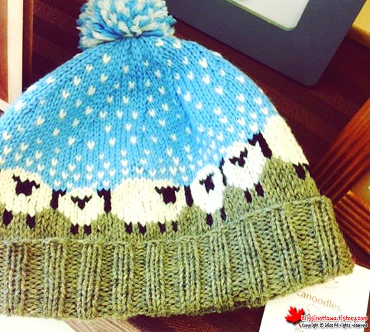 핸드메이드 털 모자