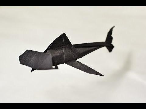 Origami Hammerhead Shark 종이접기의 세계...