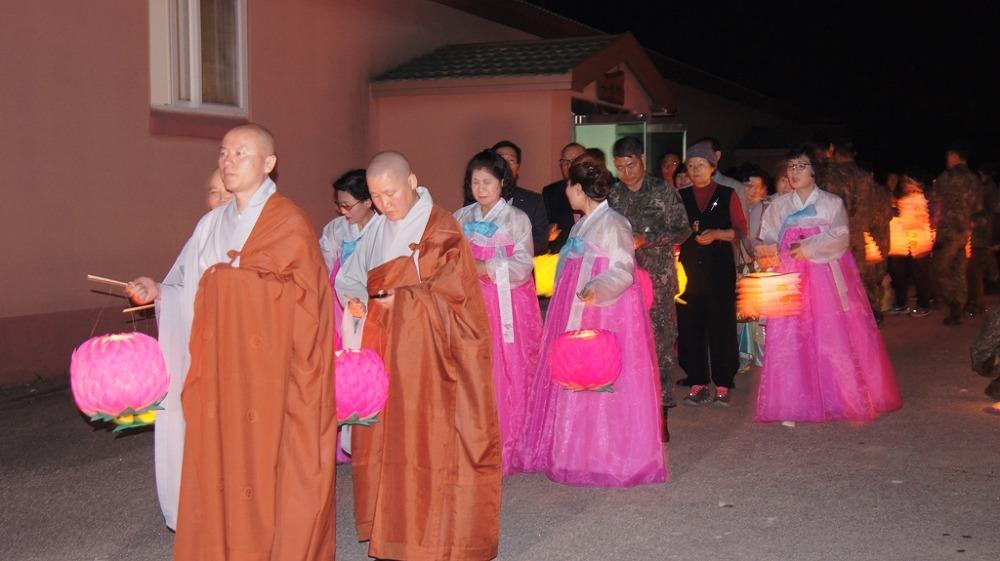 임실 6탄약창 부처님 오신날 봉축 연등제 봉행