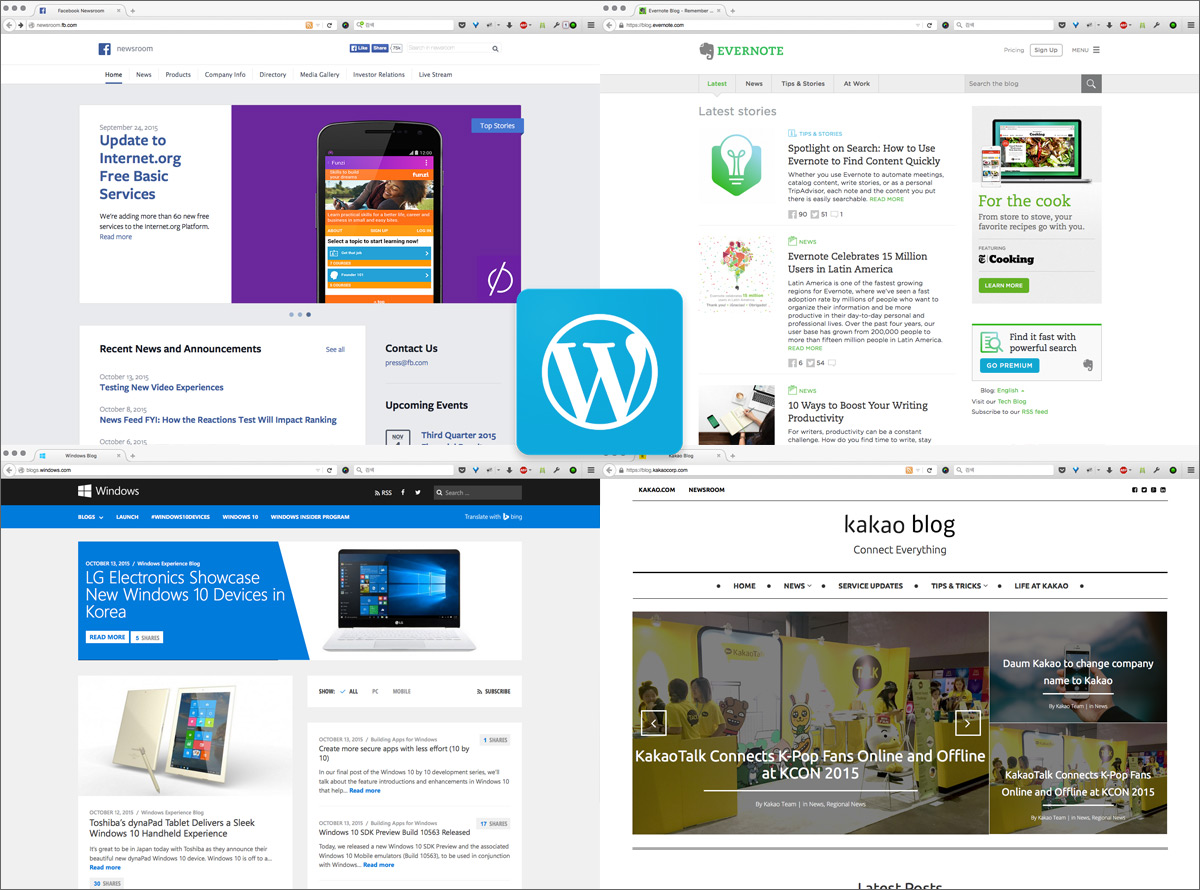 Newsroom Powered by WordPress
