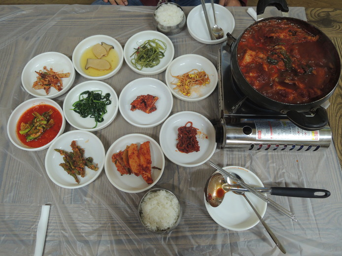 야 삼정식당... 강원도 속초먹거리 장치찜 맛집 아바이마을 근처 식당