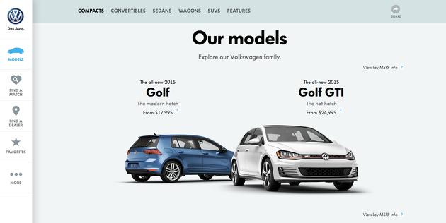 폭스바겐, VW 웹사이트