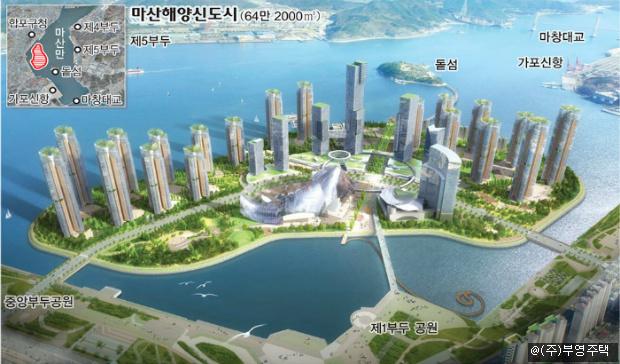 마산 해양 신도시 APT 대신 공공시설로 개발해야